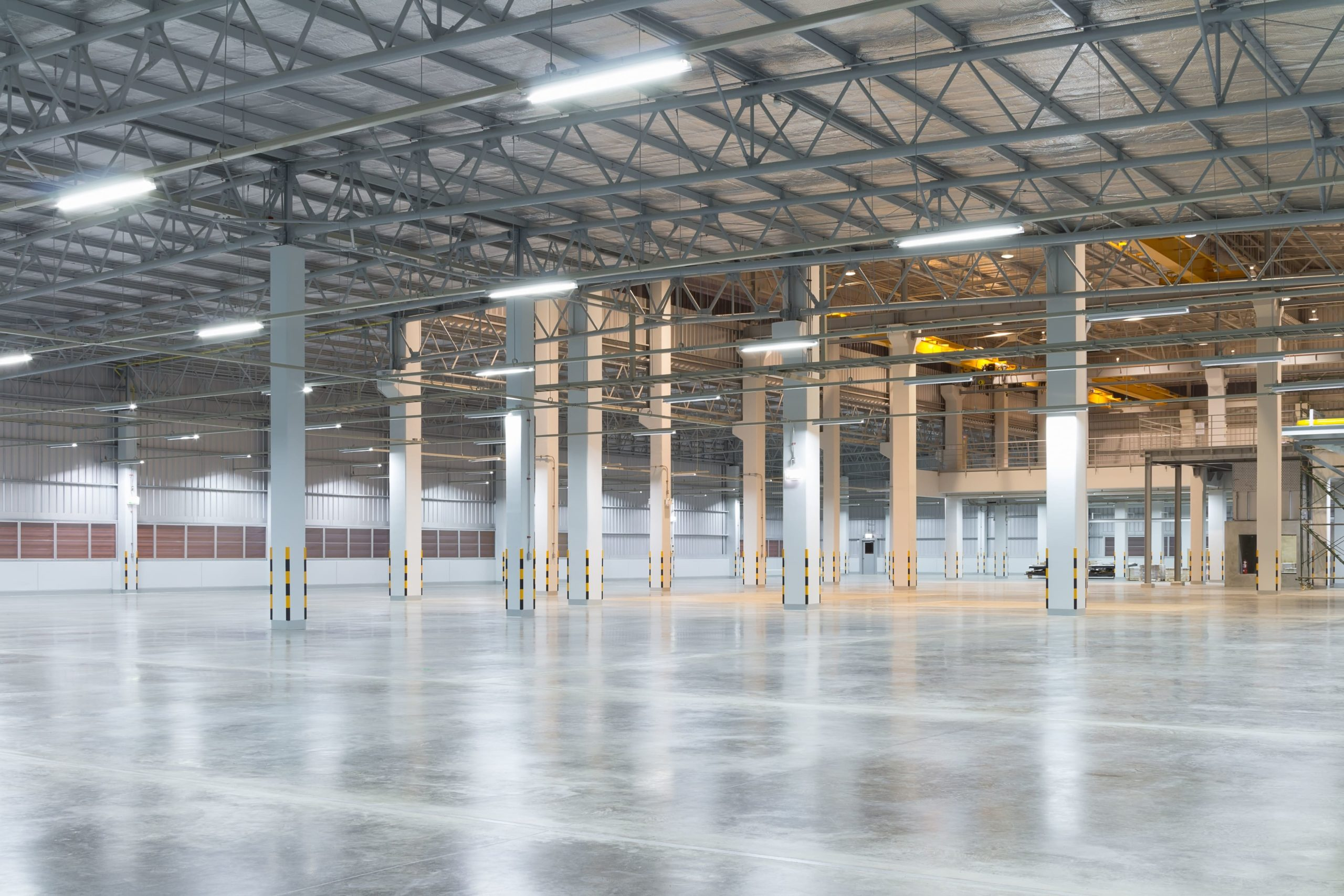 A Los Angeles warehouse with energy-efficient lighting