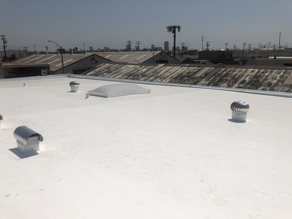 LA Turbine's new white roof from Maintco