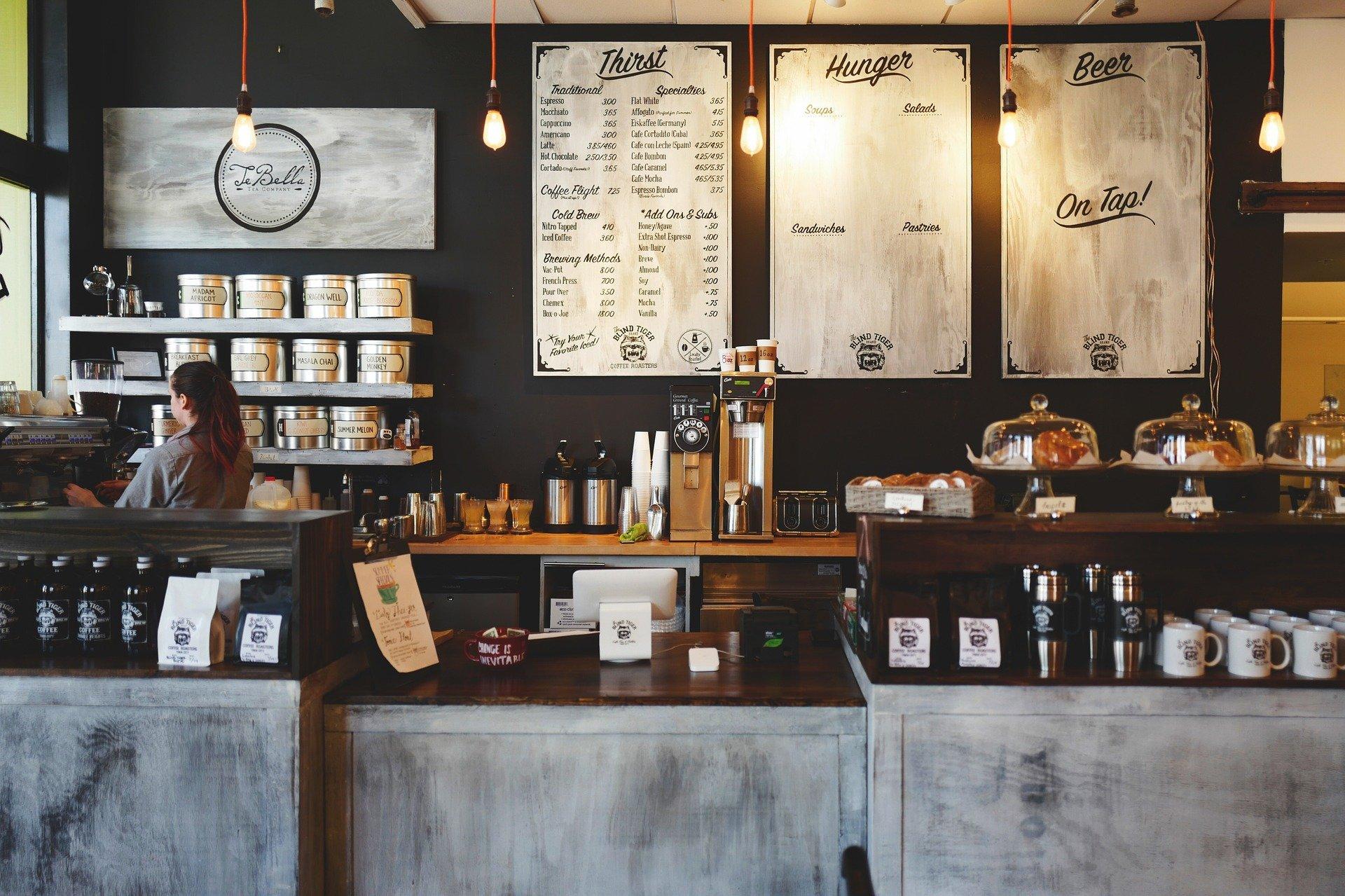 Menu Board in Coffee Shop