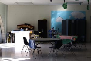 A table surrounded by four chairs inside AbilityFirst's LA location