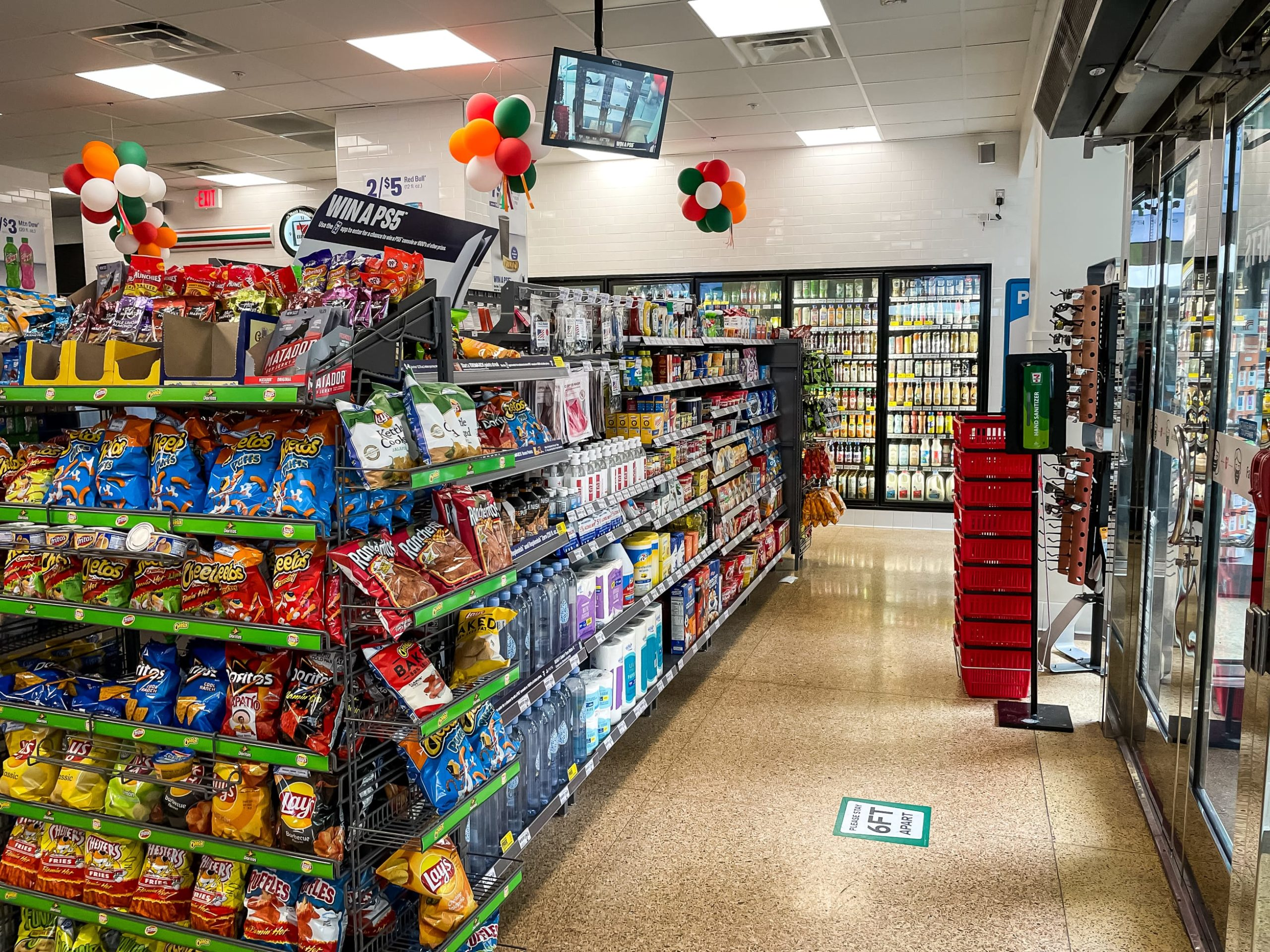 Interior of 7-Eleven on Flower Street completed by Maintco Corp
